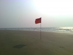 GOA. Betalbatim beash. Red flag