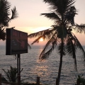 Picturesque sunset in Varkala
